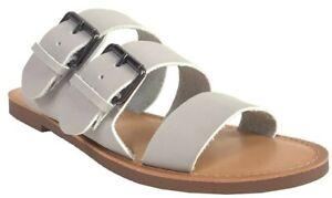 Soda Women's Mascot Multi Strap Slipper Flat Sandals