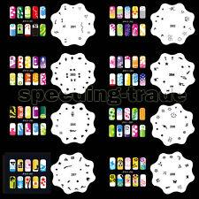 Set15 20 Template Sheets Airbrush Nail Art Stencil Design Kit Paint 200 Pattern