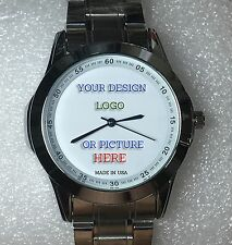 Custom Made Personalized Watch Water Proof 40mm Case SS 20mm Band Your LOGO