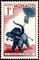 "MONACO STAMP N° 427 "" JULES VERNE 5 SEMAINES EN BALLON ELEPHANT 1F"" NEUF xx LUXE"