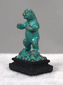 Daniel Kronberg DPK Bronze Dollhouse Miniature Sculpture - Grizzly Bear 1994