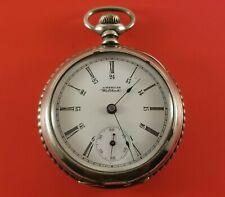 Antique Waltham Pocket Watch 18 Size Hindged Case S/N 8419481 Ca.1899