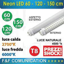 NEON LED 60 CM 120 CM 150 CM T8 OPACHI CALDO FREDDO NATURALE SPOT 220V STOCK LED