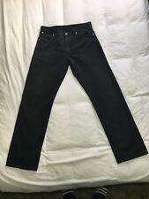 "Levi 521 Slim/Straight/Tapered Jeans Black Zip Fly 8.25"" Leg 33W 32L/Label 36 34"