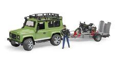 Bruder #2598 Land Rover Truck with Trailer, Scrambler Cafe Racer & Vehicles