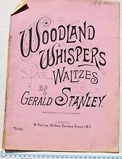 VINTAGE PIANOFORTE spartiti musicali: foresta Whispers valzer di Gerald STANLEY # 1106
