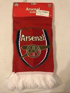 Official Arsenal Fc Scarf Soccer Football Club Fringe NWT Soft
