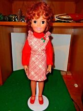 Vintage 1969 Ideal Toys 18 Inch Crissy Doll in Tagged Crissy Outfit