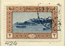 TURKEY;   1917-18 early issue seraglio point fine used 2Pi.