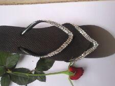 Havaianas Flip Flops with Swarovski Crystals Slim Bridal Women's Gift Sandals b