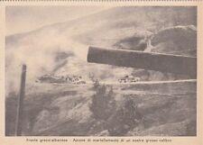A4156) WW2, GRECIA, ARTIGLIERIA DI GROSSO CALIBRO IN AZIONE.