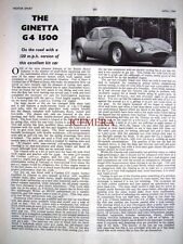 Original 1964 Ginetta 'G4 1500' Motoring Magazine Car Report (2-Sided Cutting)