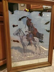 The Blanket Signal by Frederic Remington - mirrored Art Print