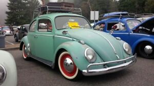 """for 15"""" Classic VW Beetle Pre Bug rubber-Port a wall Whitewall Inserts trims 4pc"""