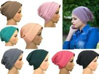 New Turban hats underscarf cap hijab, stretchy material chemo summer colors