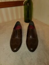 Munro American Yale Women SS Brown Leather Oxford Comfort size 8.5 $222