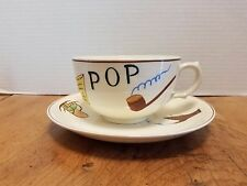 Vintage Oversize Highmount Tea Coffee Cup & Saucer POP Smoking Pipe RARE  Japan