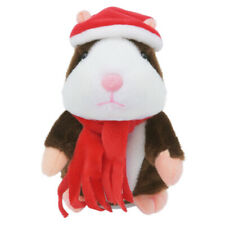 Brown Cheeky Hamster Talking Mouse Pet Christmas Speak Sound Record Xmas ToyGift