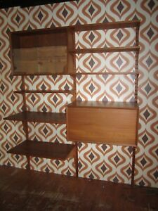 CADO System 1960 Danish Shelving Unit with wooden pegs