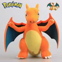 Rare Pokemon CHARIZARD Plush Toy Soft Stuffed Animal Doll 13'' Figure Cool Teddy