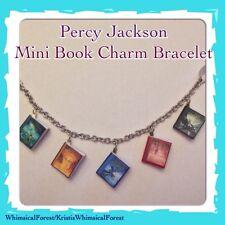 Handmade Percy Jackson Mini Book Charm Bracelet Geekery Gift