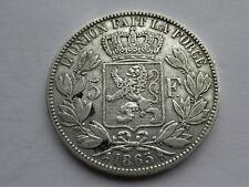 Belgie 5 frank 1865 Dot after F