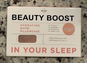 Shine by Night Satin Beauty Boost 1 Standard Size Pillowcase Blush Pink  NEW!