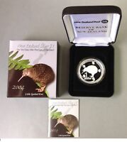 New Zealand Kiwi - 2004 - Silver $1 Proof Coin- 1 OZ Kiwi !! RARE