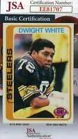 Dwight White 1980 Topps Jsa Coa Hand Signed Authentic Autograph
