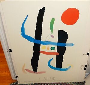 "JOAN MIRO ""COLOR WOODCUT"" HUGE COLOR POSTER"