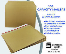 Expanding Envelope Capacity Book Mailers (100 Pack) Recycled A4 Size 234 x 334mm