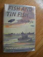 Vintage Philip Wylie, Fish And Tin Fish 1944, Farrar & Rinehart, Crunch Des