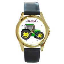 GREEN FARM TRACTOR personalizzato con qualsiasi nome Orologio da polso ** GRANDE REGALO ARTICOLO ***