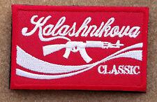 Kalashnikova Classic Morale Patch Red AK47 AK-47 Krinkov Kalashnikov Hook Badge