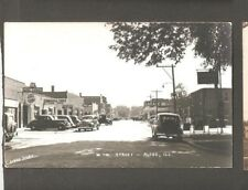 Vtg RPPC 7th St Aledo ILL IL Plymouth Ford Standard Service Station Shops Tires
