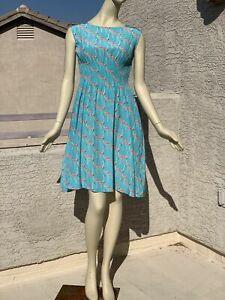 Kate Spade 100% Silk Flamingo Dress