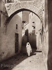 1924 Original NORTH AFRICA Tunisia Street Arab Photo Art By LEHNERT & LANDROCK