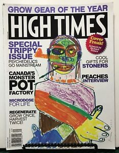 High Times Trippy Issue Grow Gear Peaches Interview Sept 2016 FREE SHIPPING JB