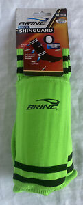 "BRINE-SOCK'R SHINGUARD-SOCCER SOCKS-MEDIUM-UP TO 5' 3""-Lime Green- NEW In Pkg."