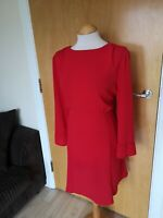 Ladies Dress Size 18 PAPAYA Red Fit And Flare Party Evening Wedding Races