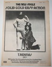 T REX Marc Bolan 1972 Original Full Page AD Single UK Advert cutting poster