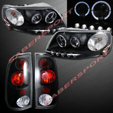 Set of Black Halo Projector Headlights + Taillights for 1997.8-2003 Ford F-150