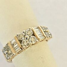 14k Yellow Gold Diamond Ring/Band/Stackable 1.0 TCW G-H/VS2 and I-J/SI1