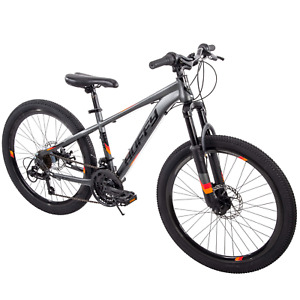 """Huffy 24"""" Scout Boys' Hardtail 21-Speed Mountain Bike with Disc Brakes"""