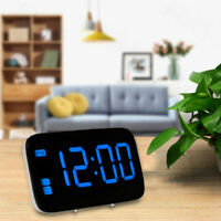 Digital LED Alarm Large Screen Time Clock /Battery Powered Voice Control