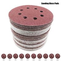80pc 125mm Sanding Discs Pads 40-400 Mixed Orbital Sander Hook Loop Sand Paper