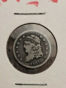 1837 large 5  capped bust half dime  F/VF You Decide!!!