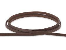 Lederband flach 3x1mm - Farbe / Länge wählbar - Lederschnur Leder-Bänder