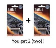 Lot of Two Braun Shaver 3000 System 1-2-3 Foil Cutter blocks 123 BRAND NEW - OEM