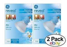 GE Lighting 67467 Reveal CFL 26-Watt (100-watt repl.) 1100-Lumen Dimmable 2 Pack